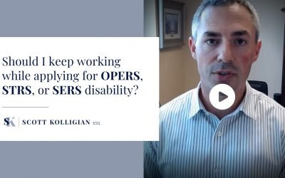 VIDEO – Should I keep working while applying for my OPERS, STRS, or SERS disability?